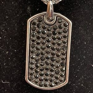 Pendant Charm Dog Tag Iced-Out